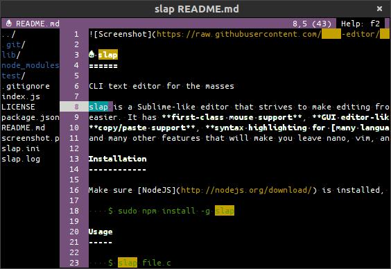 Slap editor